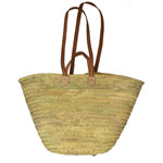 long and short handled french straw basket